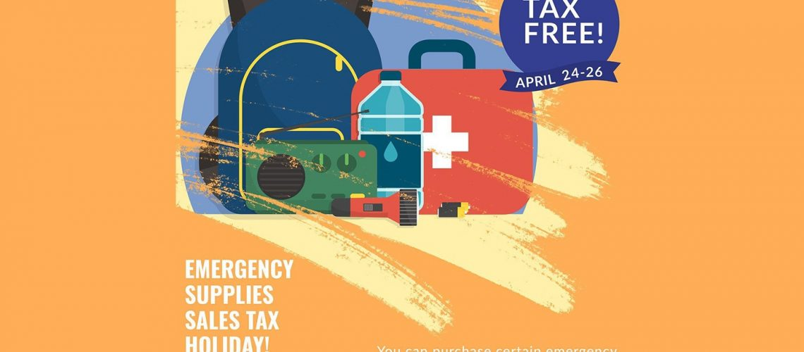 Emergency Supplies Sales Tax Holiday